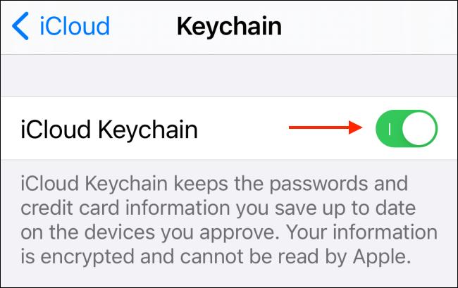 """Tắt tùy chọn """"iCloud Keychain"""""""