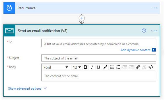 Nhập chi tiết email