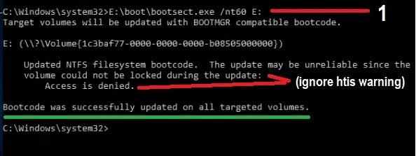 Tạo phân vùng ổ cứng trong mới có thể boot trong CMD