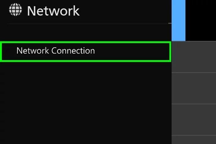 Chọn Kết nối mạng