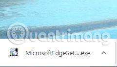 Nhấp đúp vào file MicrosoftEdgeSetup.exe