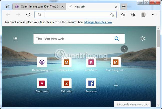 Microsoft Edge sẽ mở sau khi cài đặt xong