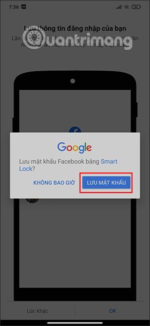 Lưu mật khẩu trên Android