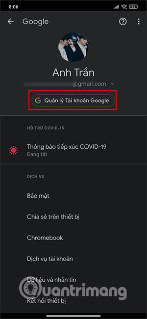 Quản lý tài khoản Google