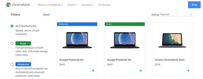 Phần lớn Chromebook được bán từ các nhà cung cấp máy tính như Asus, Acer và Dell