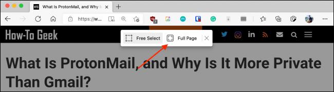 """Chọn tùy chọn """"Full Page"""""""