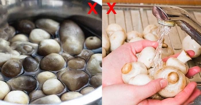 Sai lầm khi chế biến nấm