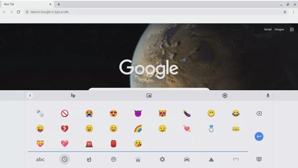 Bàn phím emoji trên ChromeOS