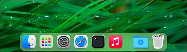 Mục ứng dụng gần đây đã không còn hiển thị trên Dock nữa