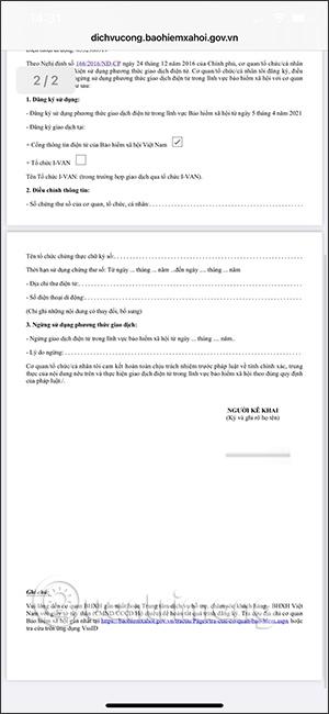 File PDF tờ khai bảo hiểm
