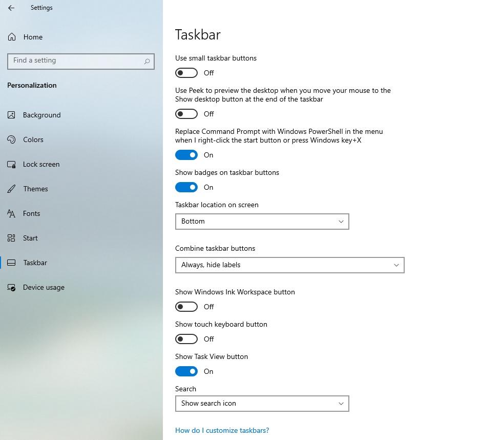 Rò rỉ hình ảnh menu taskbar trên Windows 10 trong các bản preview