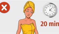 8 sai lầm gây hại chúng ta thường hay mắc phải khi tắm