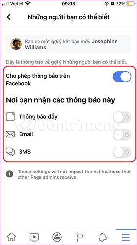 Tắt Allow Notifications On Facebook