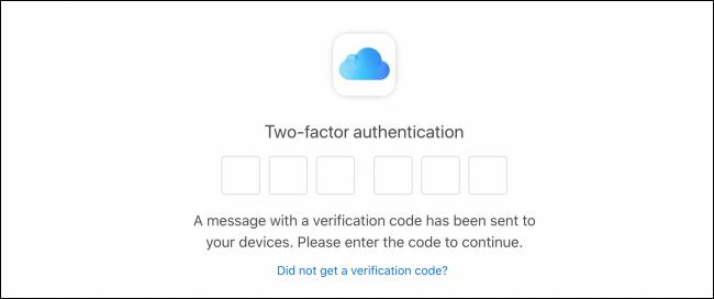 Nhập mã xác thực hai yếu tố
