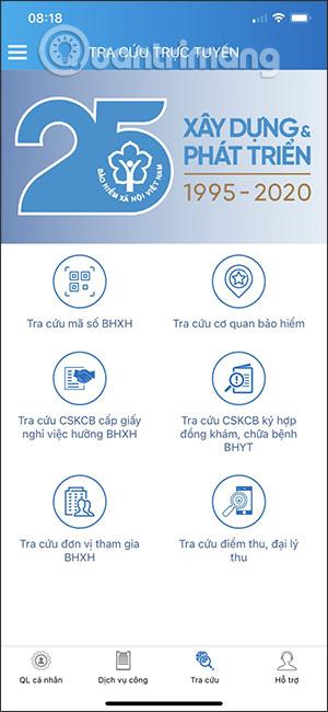 Tra cứu thông tin BHXH
