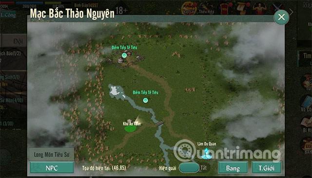 bản đồ train quái võ lâm truyền kỳ 1 mobile