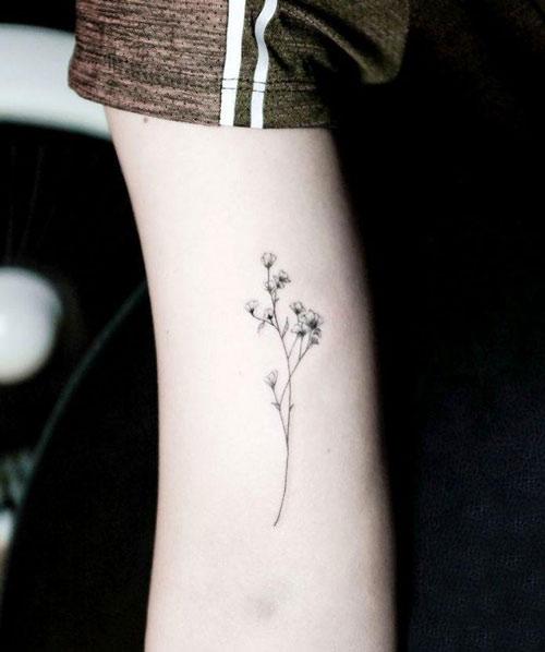 Mẫu xăm hoa nhỏ, mảnh cho nữ.