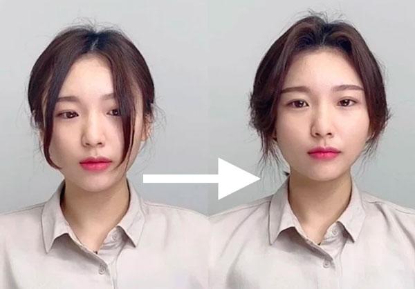 Tạo phồng phần tóc mái, tóc đỉnh đầu