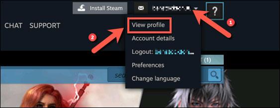 """Nhấn vào """"View Profile"""""""