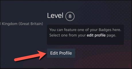 """Nhấp vào tùy chọn """"Edit Profile"""""""
