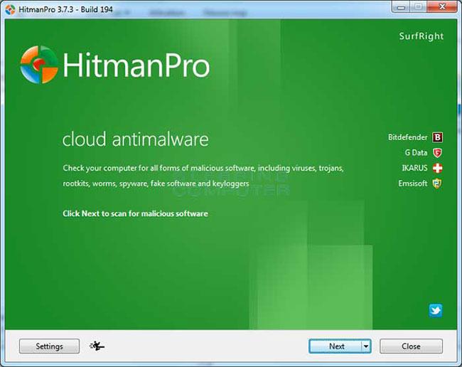 Sử dụng HitmanPro để quét máy tính