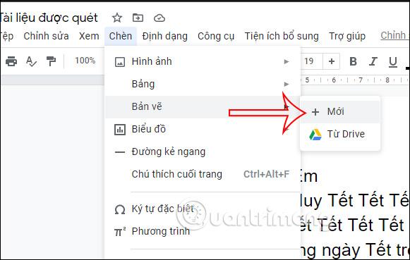 Cách tạo chữ cái lớn đầu dòng trong Google Docs