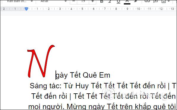 Cách tạo chữ cái lớn đầu dòng trong Google Docs - Ảnh minh hoạ 5