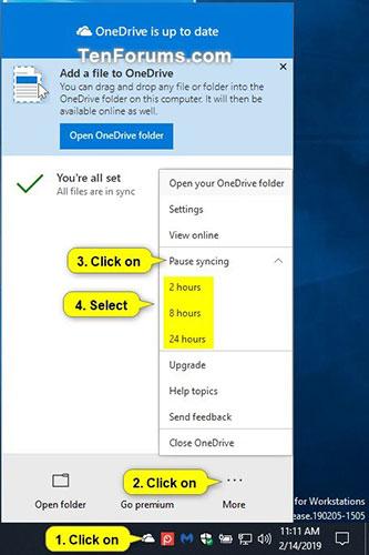 Cách tạm dừng và tiếp tục đồng bộ OneDrive trên Windows 10