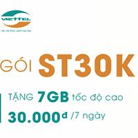 Cách đăng ký gói ST30K Viettel nhận thêm 50% data