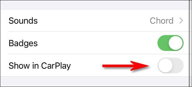Cách tắt thông báo của ứng dụng trong CarPlay