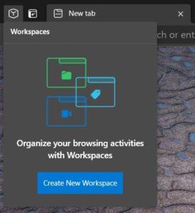 "Nhấp vào ""Create new Workspaces"""
