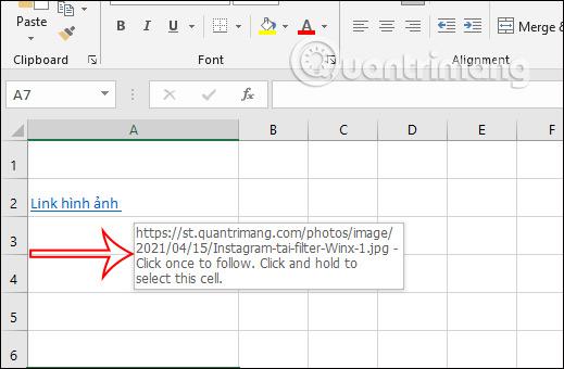 Cách chèn link ảnh trong Excel - Ảnh minh hoạ 4