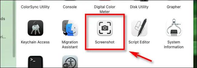 "Ứng dụng ""Screenshot"""