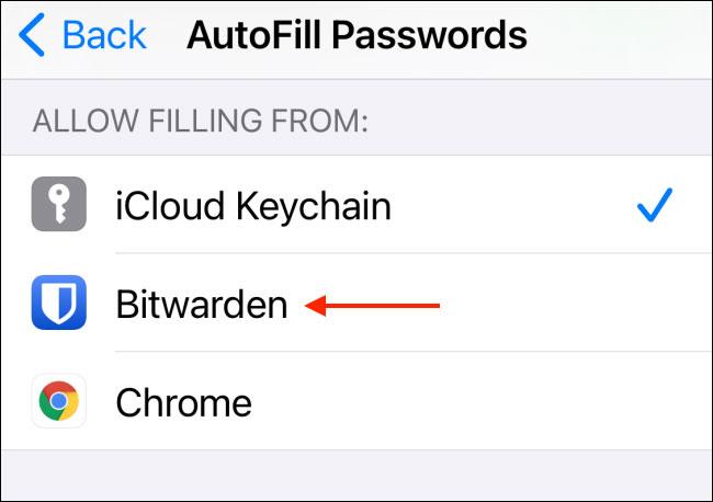 Cách sử dụng tính năng autofill với công cụ quản lý mật khẩu bên thứ ba trên iPhone hoặc iPad