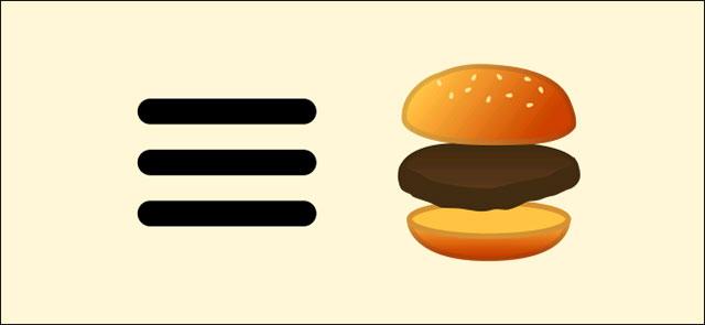 Biểu tượng Hamburger và sự liên tưởng thú vị