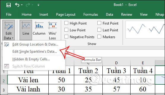 Cách tạo biểu đồ mini Sparklines trong Excel 2010, 2019 - Ảnh minh hoạ 6