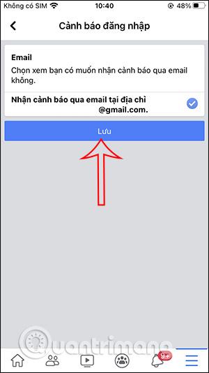 Gửi thông báo qua email
