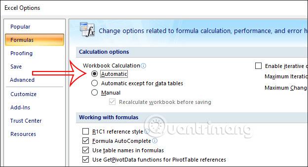 Cách sửa lỗi công thức Excel không nhảy - Ảnh minh hoạ 3