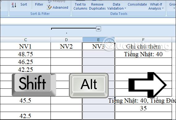 Cách dùng tính năng Group trong Excel - Ảnh minh hoạ 7