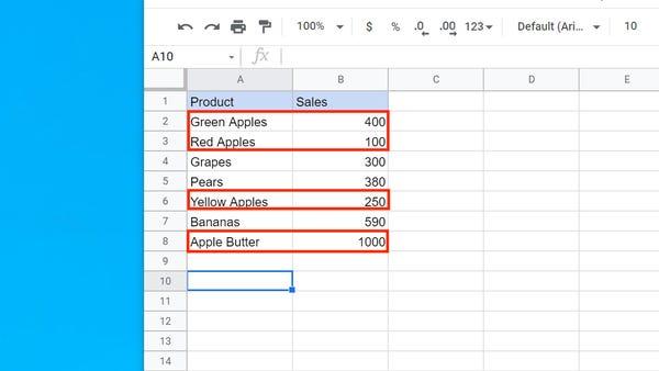 Cách sử dụng hàm SUMIF trong Google Sheets - Ảnh minh hoạ 8