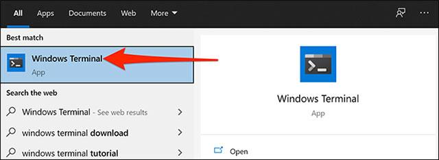 Mở Windows Terminal