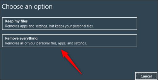 Cách khôi phục cài đặt gốc (Factory Reset) PC Windows 10 bằng Command Prompt