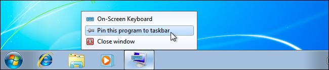 Bàn phím ảo trên Windows 7