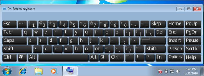 Cách mở bàn phím ảo trong Win XP, Win 7 và Win 8/8.1