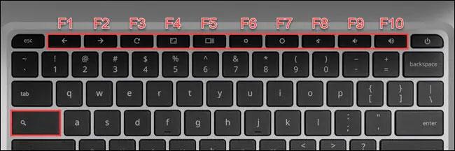 Giữ phím Search/Launcher và nhấn một trong các phím chức năng