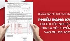 Cách điền phiếu đăng ký dự thi tốt nghiệp THPT và xét tuyển Đại học 2021