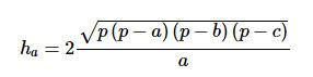Đường cao trong tam giác thường
