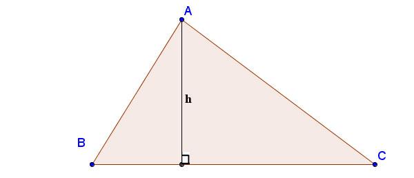 Tính đường cao trong tam giác thường