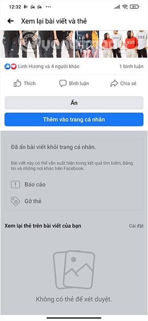Cách xem lại bài viết gắn thẻ trên Facebook nhanh chóng - Ảnh minh hoạ 4