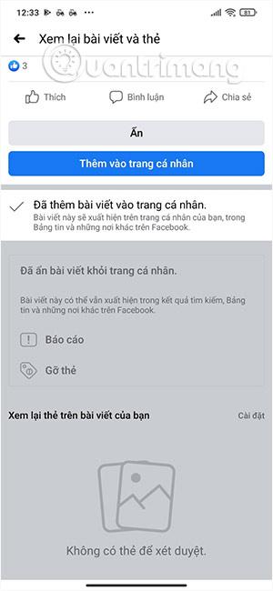 Cách xem lại bài viết gắn thẻ trên Facebook nhanh chóng - Ảnh minh hoạ 5